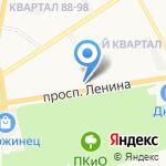 Колесо обозрения на карте Дзержинска
