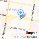 Гулливер на карте Дзержинска