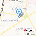 Баня №1 на карте Дзержинска