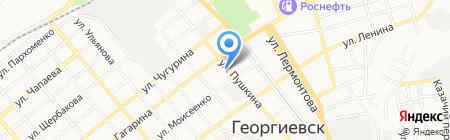 Нотариус Мерзляков П.С. на карте Георгиевска