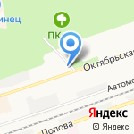 Астерия на карте Дзержинска