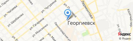 Центральная городская библиотека им. А.С. Пушкина на карте Георгиевска