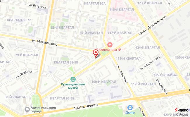 Карта расположения пункта доставки Халва в городе Дзержинск