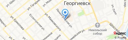 Национальный Банк ТРАСТ на карте Георгиевска