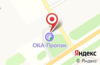 Схема проезда до компании АЗС в Антеньево
