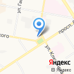 Салон одежды на карте Дзержинска