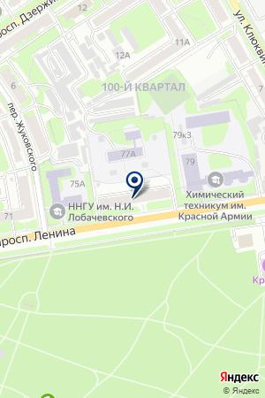 НОТАРИУС ДАВЫДОВА Т.А. на карте Дзержинска
