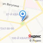 Киоск по продаже хлеба на карте Дзержинска