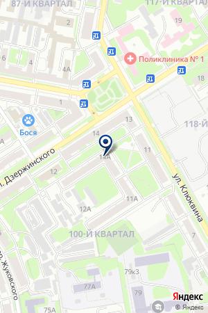 Конкорд на карте Дзержинска