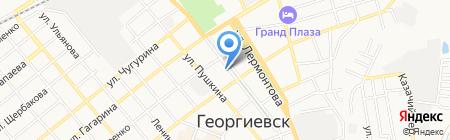 Коника на карте Георгиевска