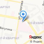 Больница скорой медицинской помощи на карте Дзержинска