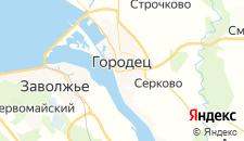 Гостиницы города Городец на карте