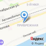 Магазин электротоваров и сантехники на карте Дзержинска