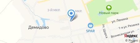 Шиномонтаженька Плюс на карте Богородска