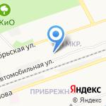 Яблонька на карте Дзержинска