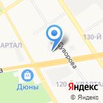 Дзержинское время на карте Дзержинска