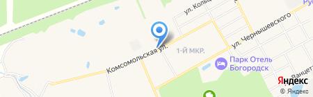 Автостоянка на карте Богородска