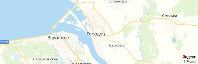 Городец на карте