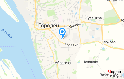 Местоположение на карте пункта техосмотра по адресу Нижегородская обл, г Городец, ул Новая, д 31