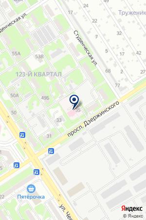 ПАНСИОНАТ ВЕТЕРАНОВ ТРУДА ЗДРАВНИЦА на карте Дзержинска