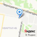 Бригантина на карте Дзержинска