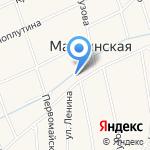 Почтовое отделение №10 на карте Пятигорска (КМВ)