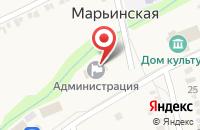 Схема проезда до компании Администрация станицы Марьинской в Марьинской