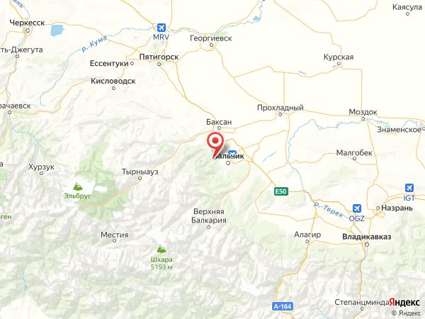 посёлок Звёздный на карте