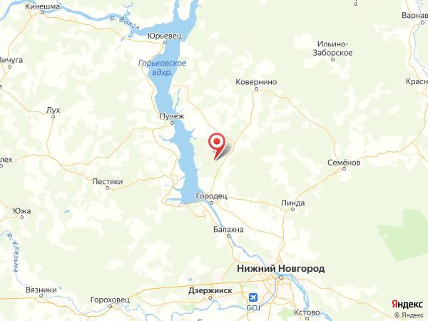 деревня Орехово на карте