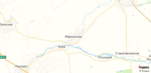 Марьинская на карте