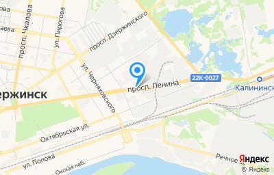 Местоположение на карте пункта техосмотра по адресу Нижегородская обл, г Дзержинск, пр-кт Ленина, д 107В