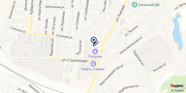 АЗС Газпром на карте Краснокумском