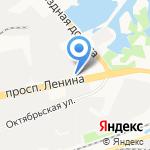 Астат на карте Дзержинска