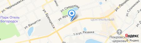 Водовозов на карте Богородска