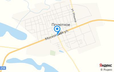 Местоположение на карте пункта техосмотра по адресу Респ Калмыкия, с Приютное, ул Анацкого, д 9Б