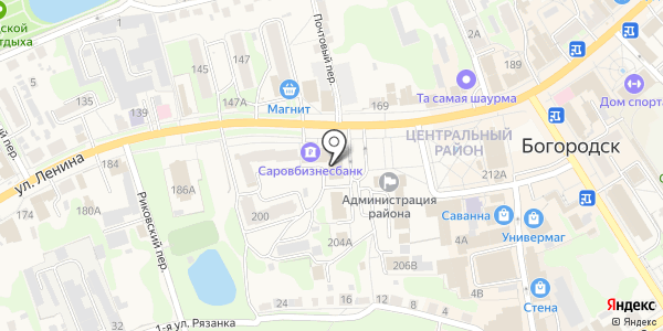 АКБ САРОВБИЗНЕСБАНК. Схема проезда в Богородске