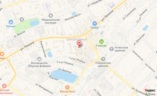 Карта расположения пункта доставки Ростелеком в городе Богородск