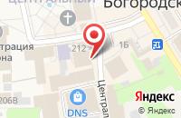 Схема проезда до компании FIX price в Богородске