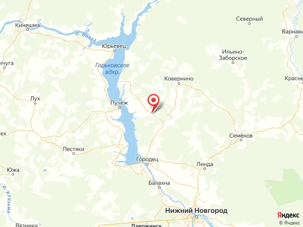 деревня Ганино на карте