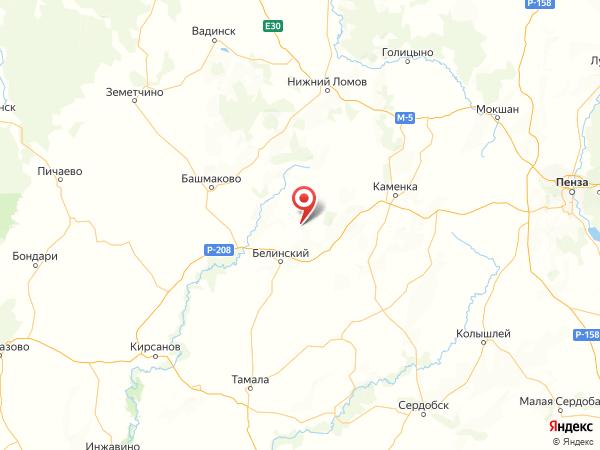 село Сулак на карте