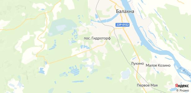 Гидроторф на карте