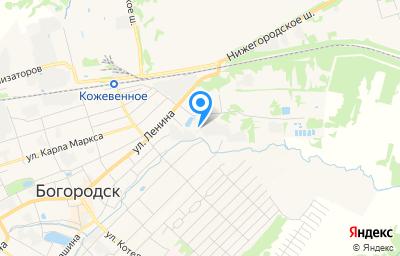 Местоположение на карте пункта техосмотра по адресу Нижегородская обл, г Богородск, ул Пионерская площадка, д 2