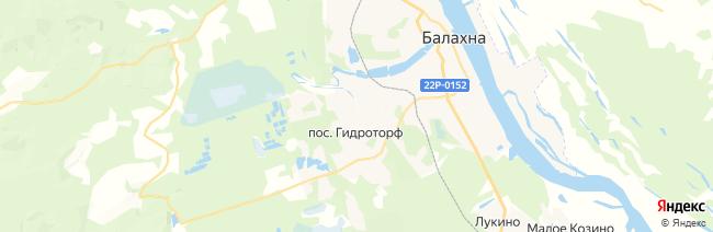 Балахна на карте