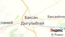 Гостиницы города Баксан на карте