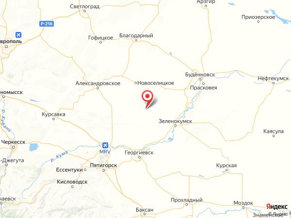 поселок Роговой на карте