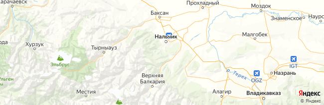 Кабардино-Балкария на карте