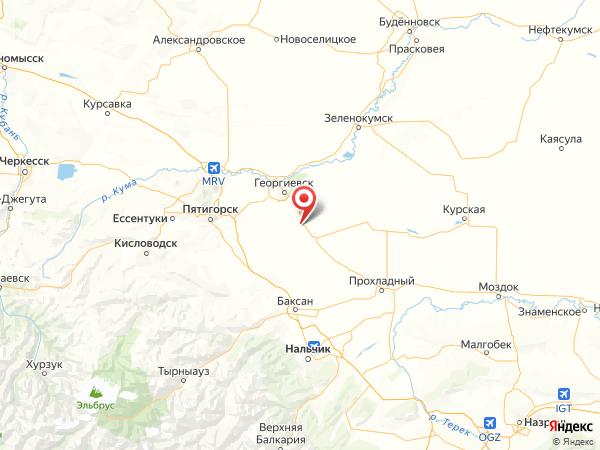 посёлок Комсомолец на карте