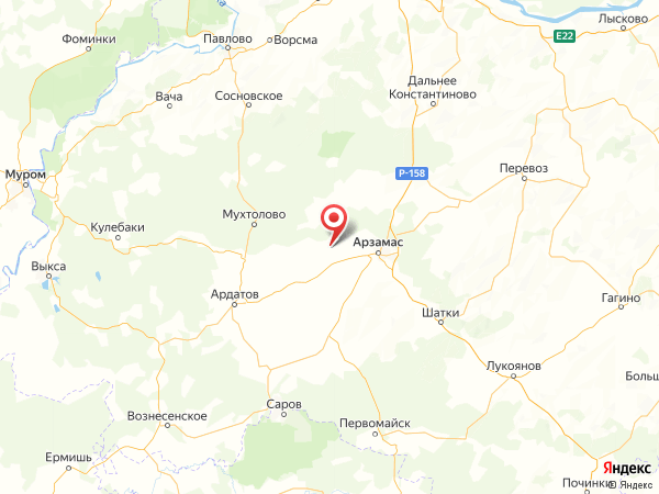 село Водоватово на карте