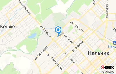 Местоположение на карте пункта техосмотра по адресу г Нальчик, ул Матросова, д 5