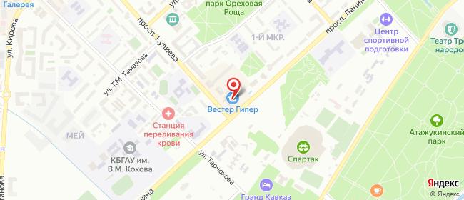 Карта расположения пункта доставки Диксис-Нальчик в городе Нальчик
